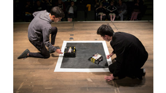Sumo Robot Competition: The Hong vs. Skelebot
