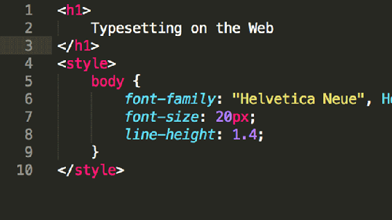 Typesetting on the Web Class in New York