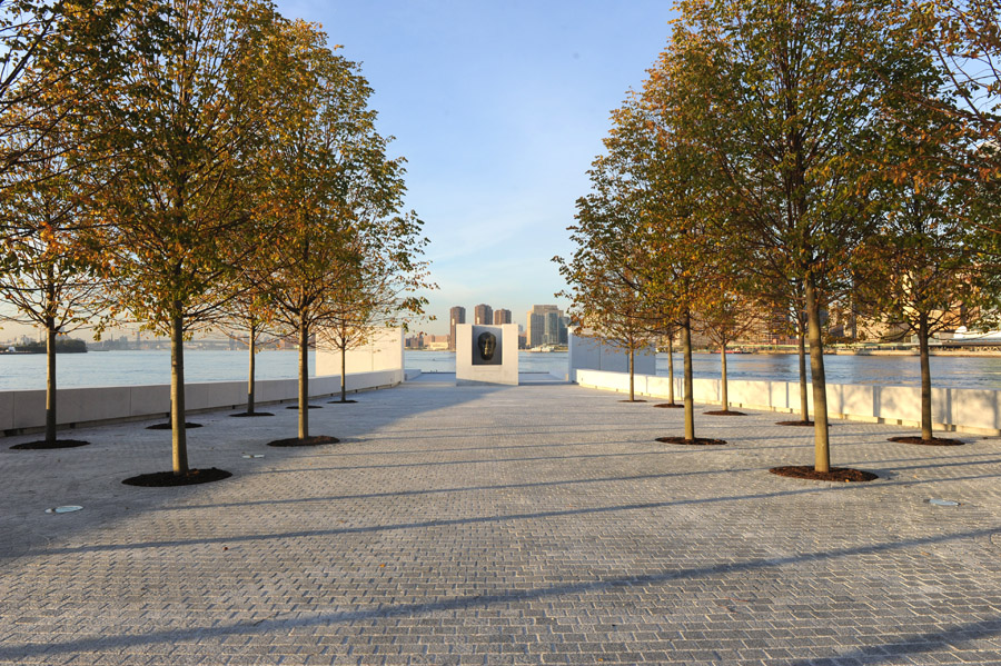 View of Four Freedoms Park on Roosevelt Island