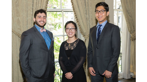Right to Left: Aaron Fink (CE'20), QiTong Han (CE'20), Jeahoung Hong (CE'20).