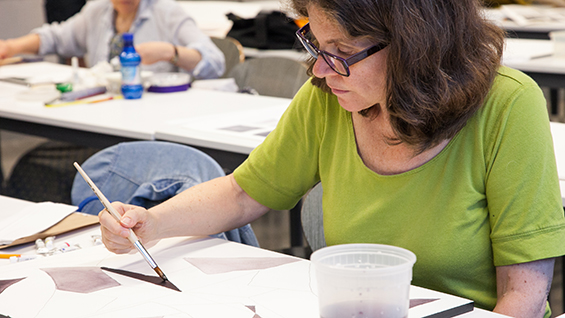 Watercolor and Abstraction Class in New York